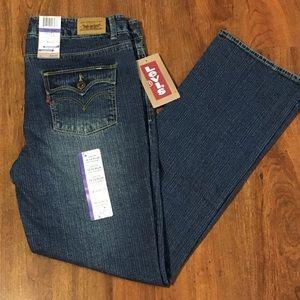 NWT Levi's Slim Straight Fit Jeans 14 1/2 Plus New